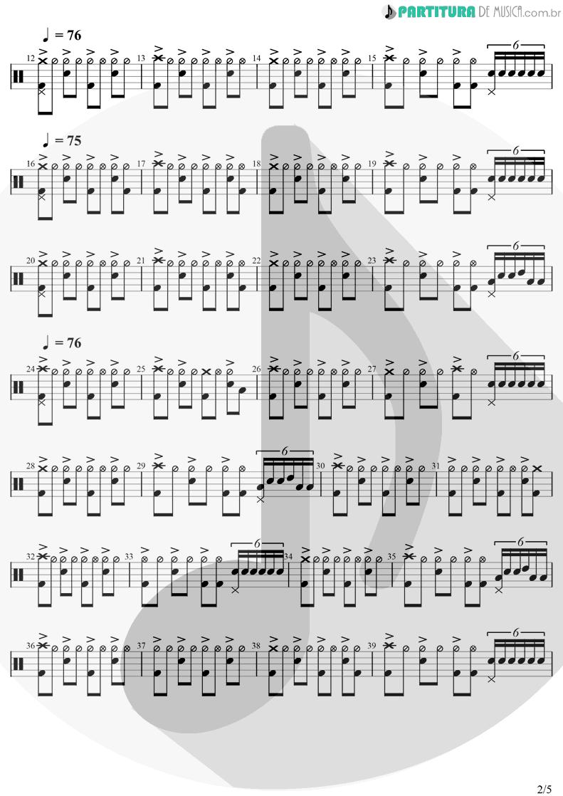 Partitura de musica de Bateria - Innuendo | Queen | Innuendo 1991 - pag 2