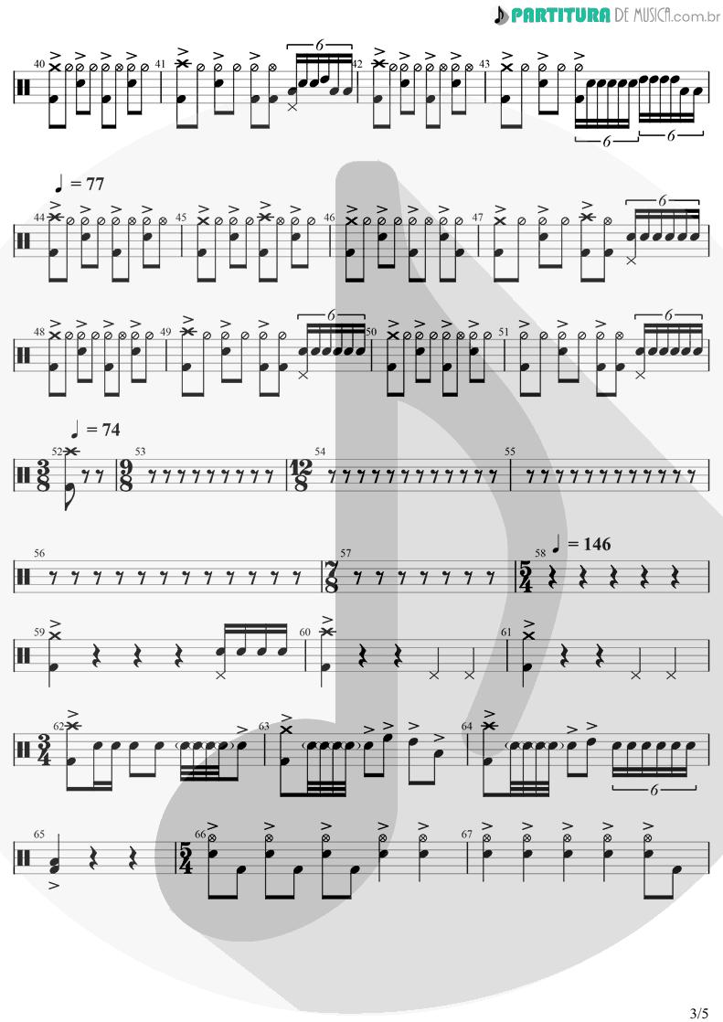 Partitura de musica de Bateria - Innuendo | Queen | Innuendo 1991 - pag 3