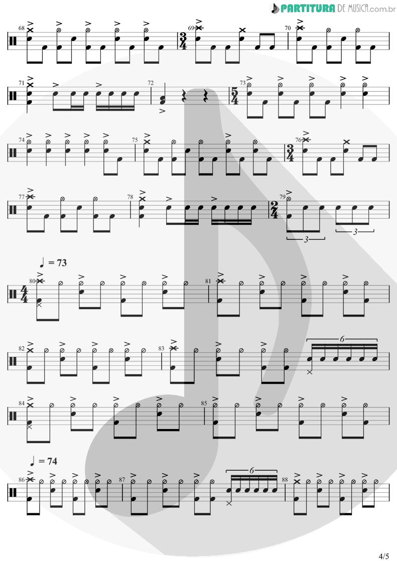 Partitura de musica de Bateria - Innuendo | Queen | Innuendo 1991 - pag 4