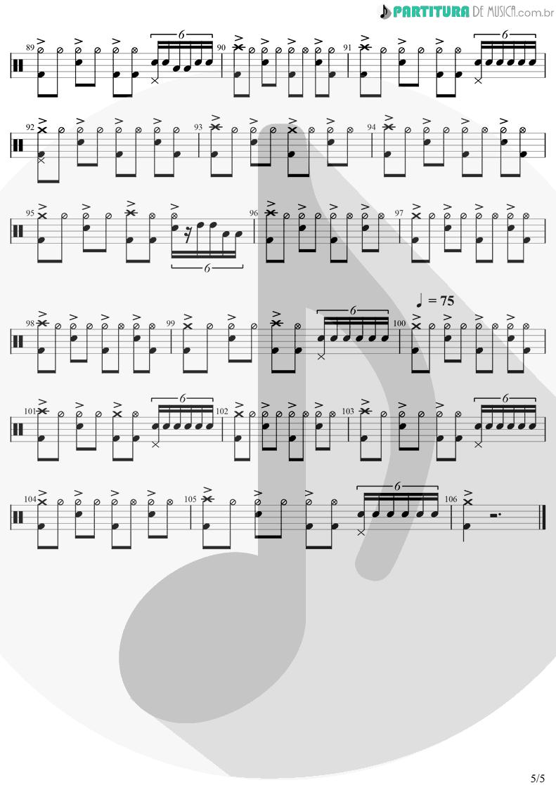 Partitura de musica de Bateria - Innuendo | Queen | Innuendo 1991 - pag 5