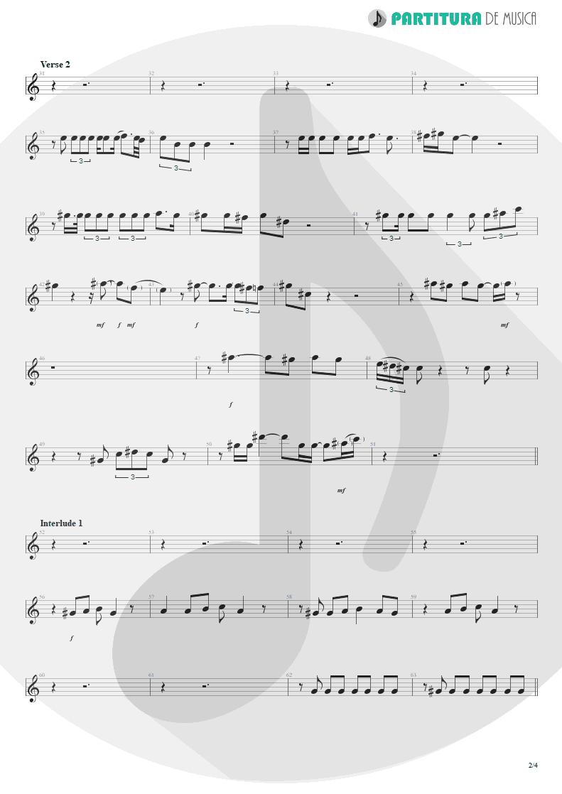 Partitura de musica de Canto - Innuendo | Queen | Innuendo 1991 - pag 2