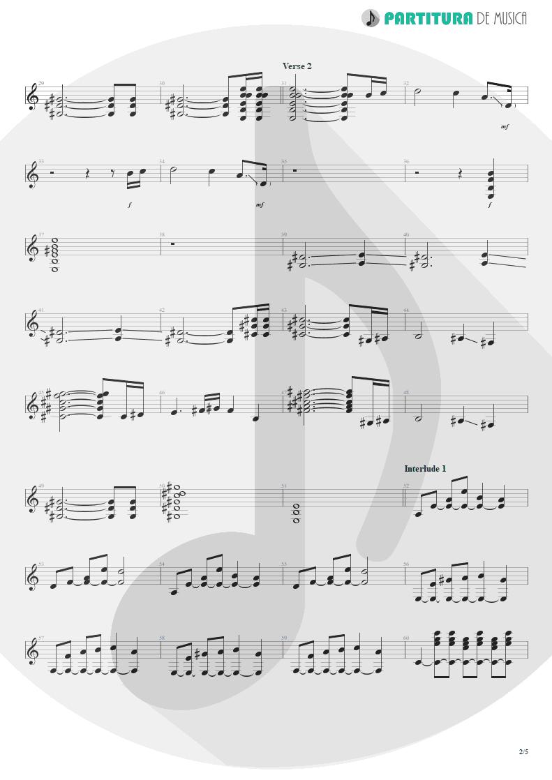 Partitura de musica de Guitarra Elétrica - Innuendo | Queen | Innuendo 1991 - pag 2
