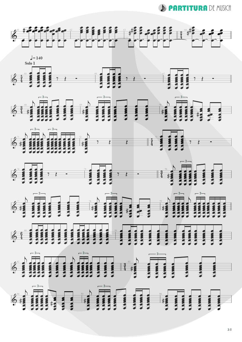 Partitura de musica de Guitarra Elétrica - Innuendo | Queen | Innuendo 1991 - pag 3