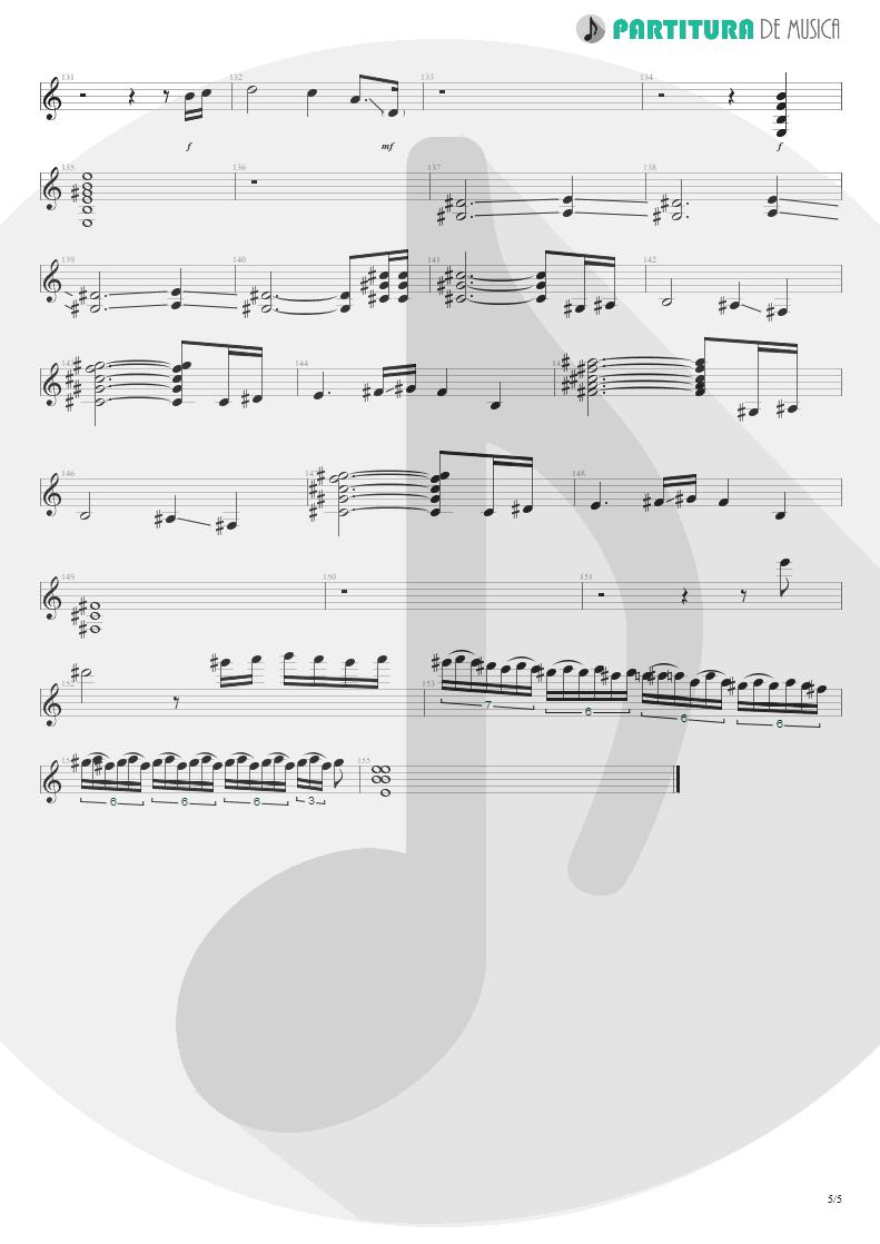 Partitura de musica de Guitarra Elétrica - Innuendo | Queen | Innuendo 1991 - pag 5