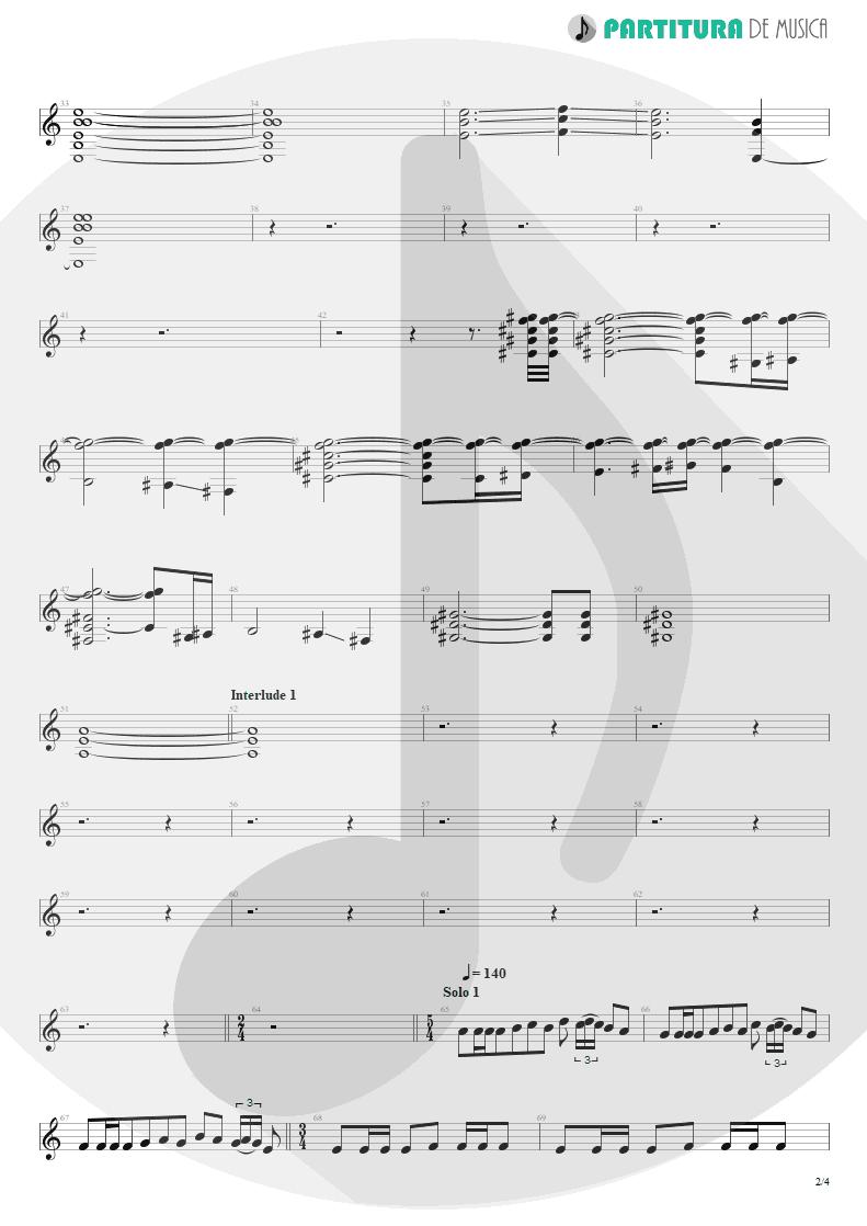 Partitura de musica de Guitarra Elétrica - Innuendo   Queen   Innuendo 1991 - pag 2