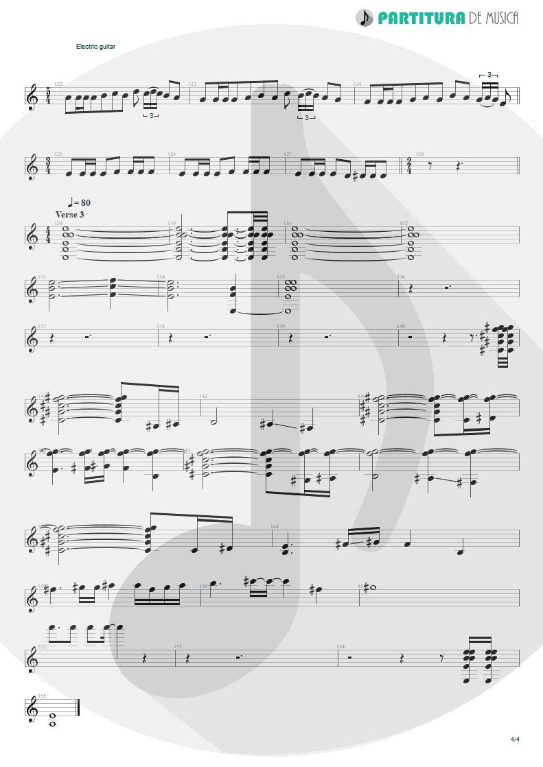 Partitura de musica de Guitarra Elétrica - Innuendo   Queen   Innuendo 1991 - pag 4