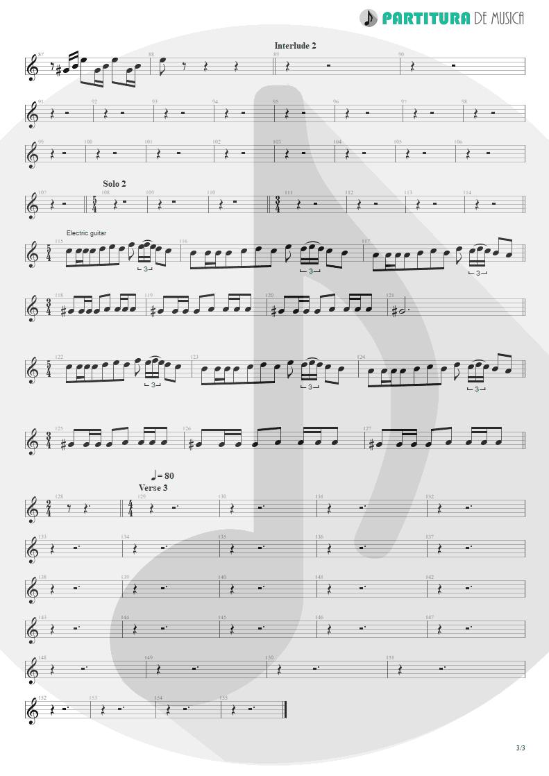 Partitura de musica de Guitarra Elétrica - Innuendo   Queen   Innuendo 1991 - pag 3