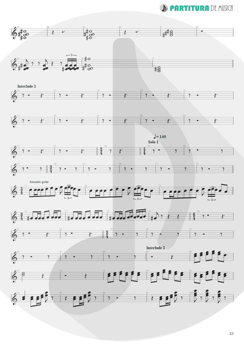 Partitura de musica de Teclado - Innuendo | Queen | Innuendo 1991 - pag 2