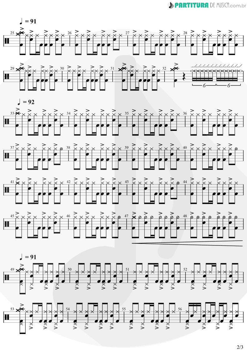 Partitura de musica de Bateria - Creep   Radiohead   Plabo Honey 1993 - pag 2