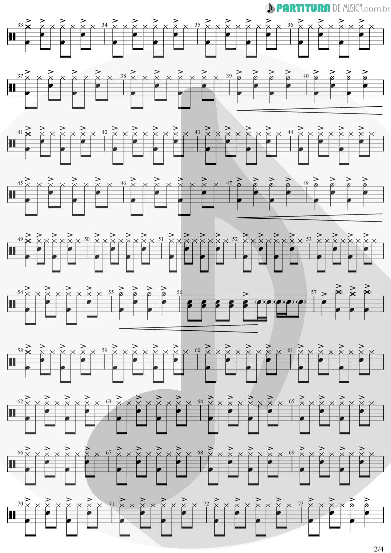 Partitura de musica de Bateria - Me Lambe | Raimundos | Só no Forevis 1999 - pag 2