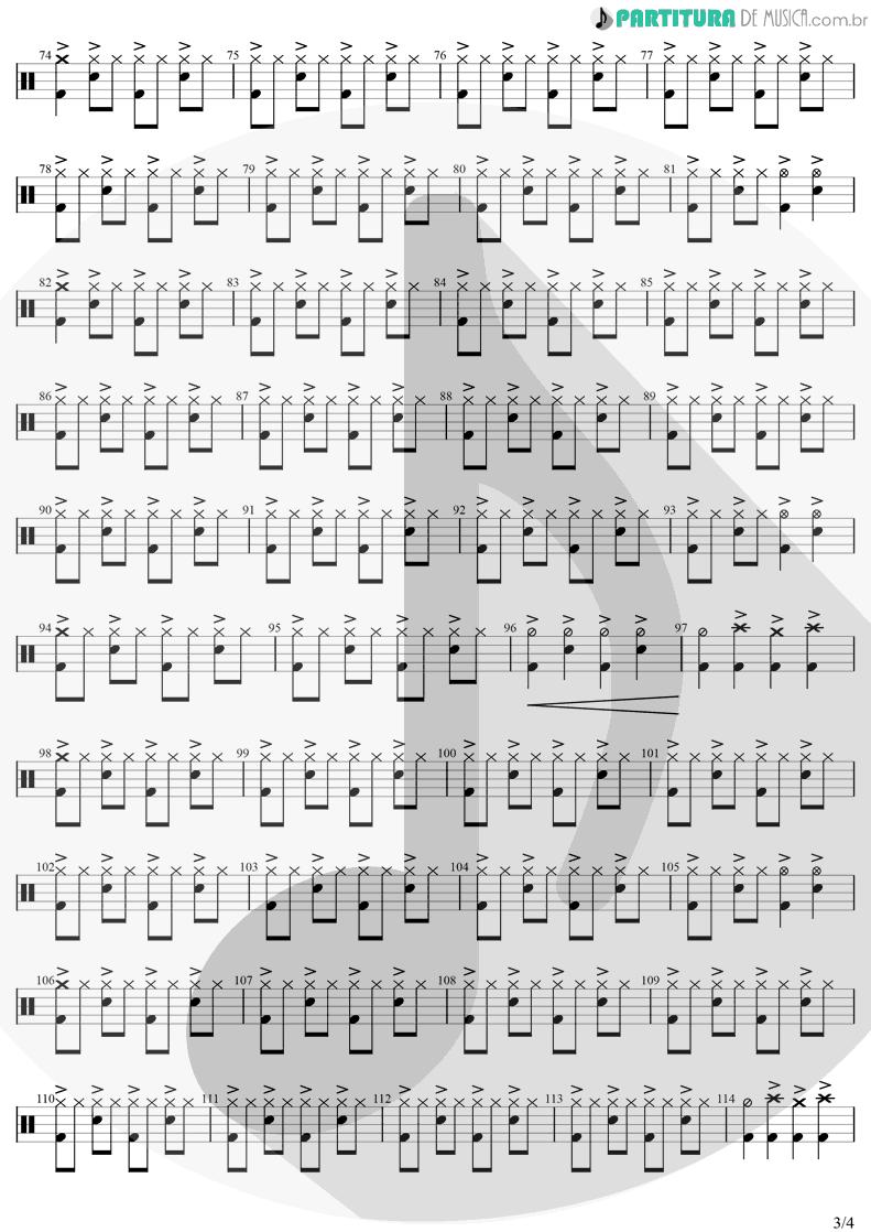 Partitura de musica de Bateria - Me Lambe | Raimundos | Só no Forevis 1999 - pag 3