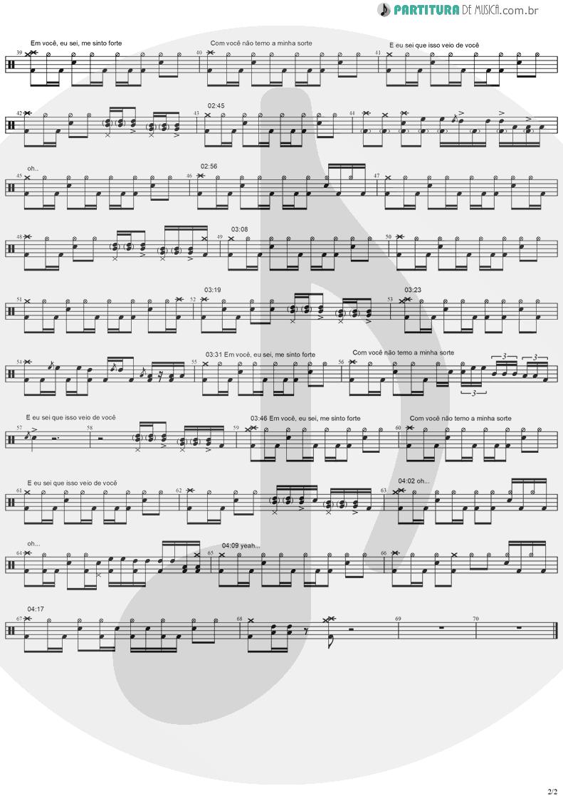 Partitura de musica de Bateria - Do Alto da Pedra | Rosa de Saron | Depois do Inverno 2002 - pag 2