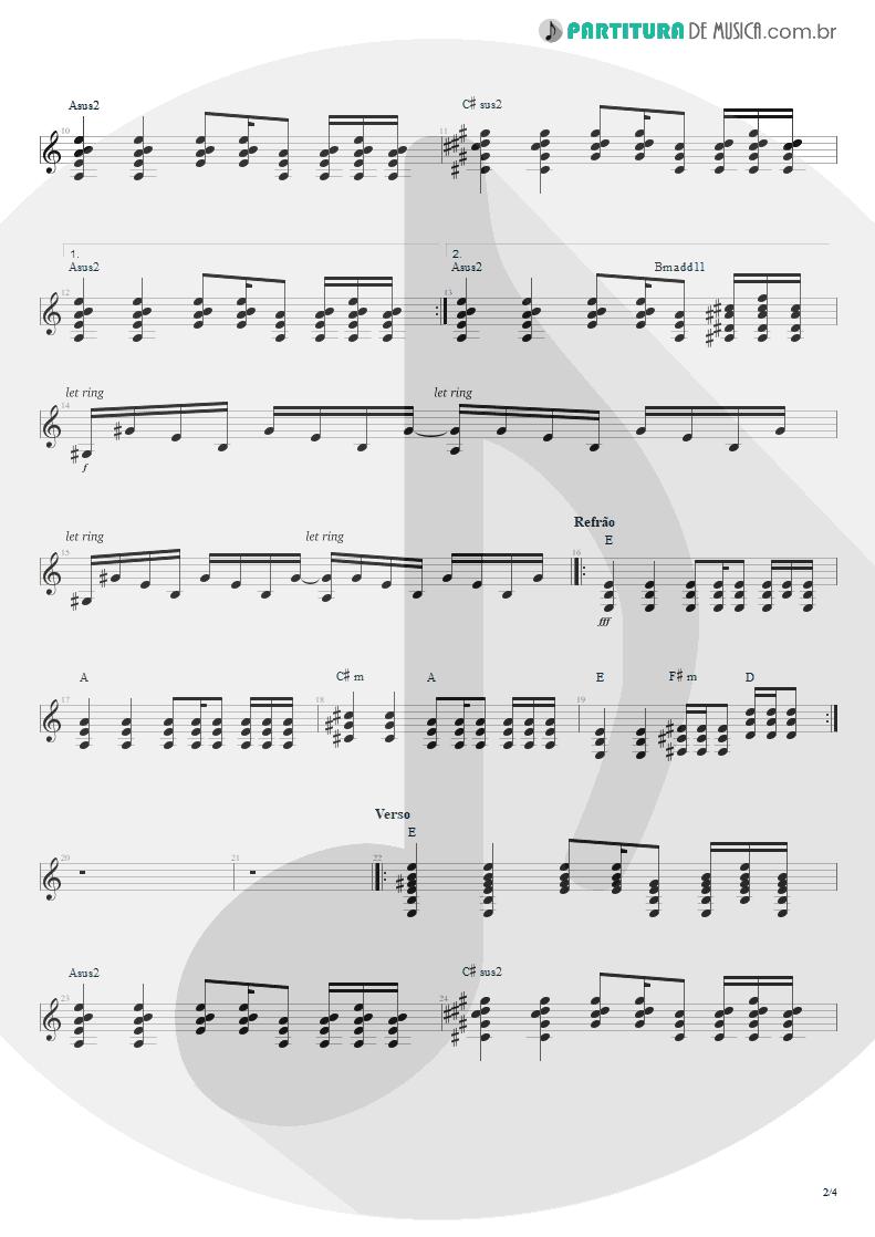 Partitura de musica de Violão - Do Alto da Pedra | Rosa de Saron | Depois do Inverno 2002 - pag 2