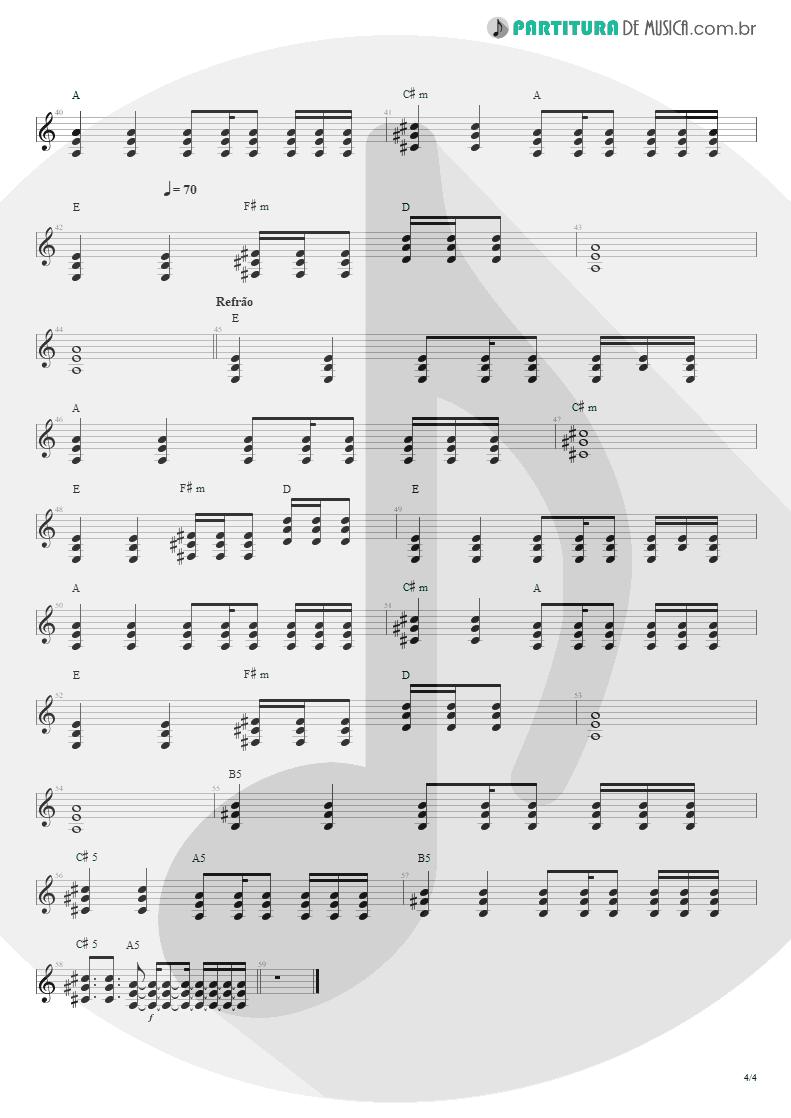 Partitura de musica de Violão - Do Alto da Pedra | Rosa de Saron | Depois do Inverno 2002 - pag 4