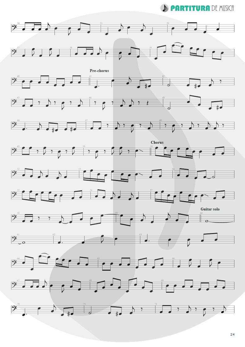 Partitura de musica de Baixo Elétrico - Something For Nothing | Rush | 2112 1976 - pag 2