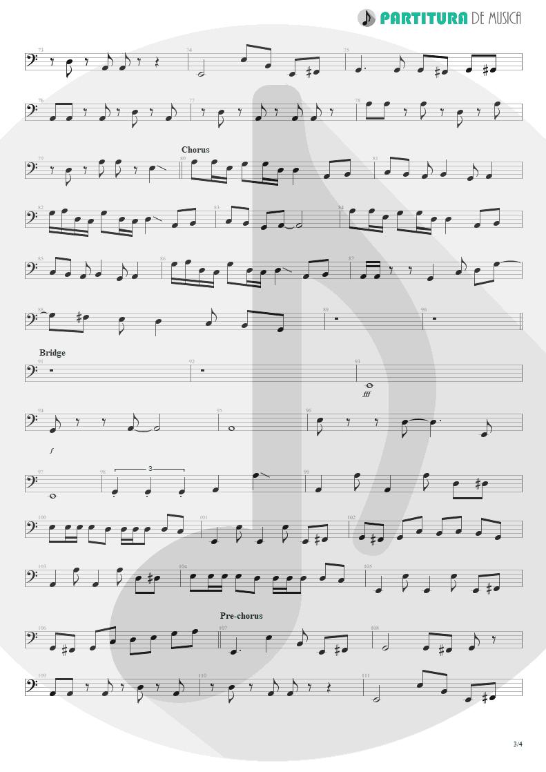Partitura de musica de Baixo Elétrico - Something For Nothing | Rush | 2112 1976 - pag 3