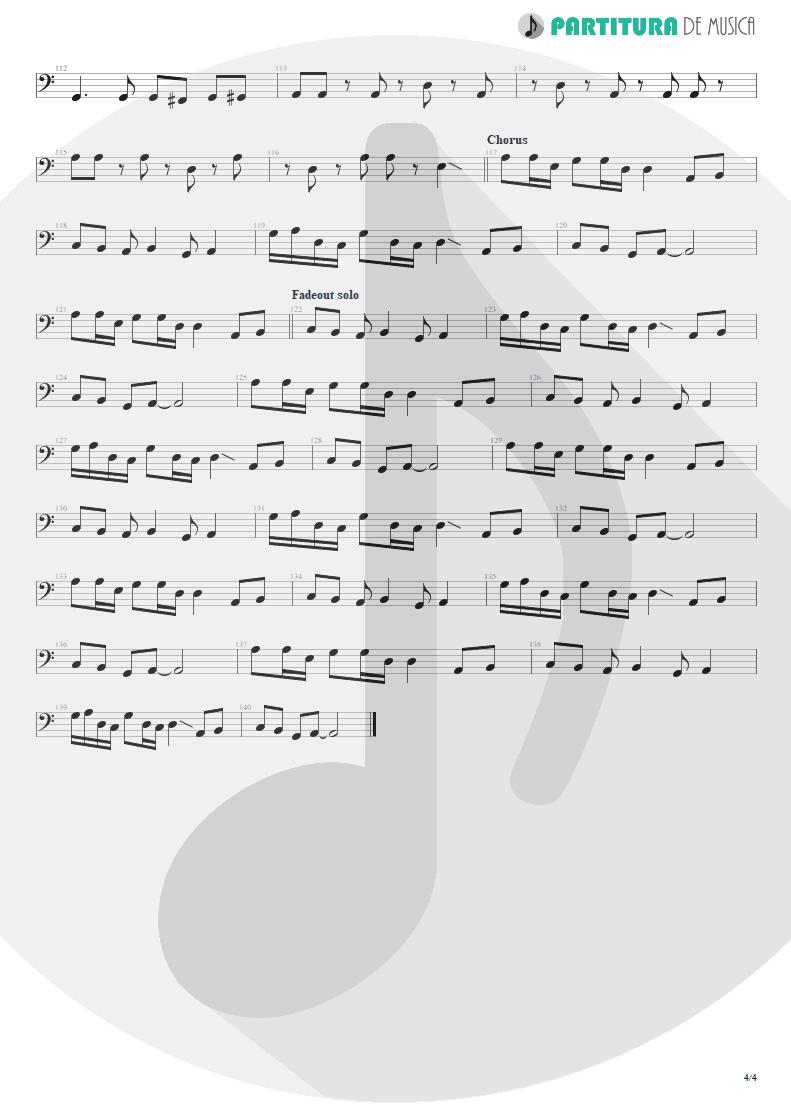Partitura de musica de Baixo Elétrico - Something For Nothing | Rush | 2112 1976 - pag 4