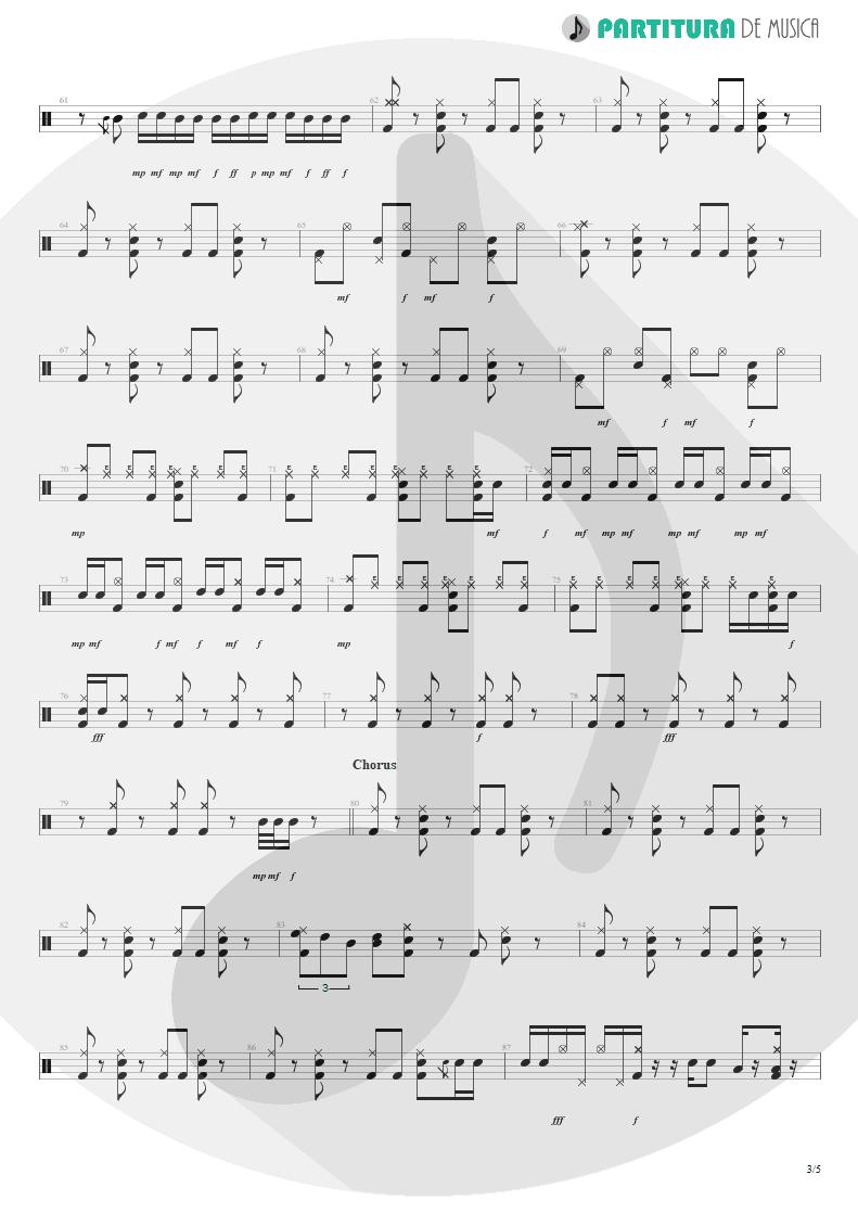 Partitura de musica de Bateria - Something For Nothing | Rush | 2112 1976 - pag 3