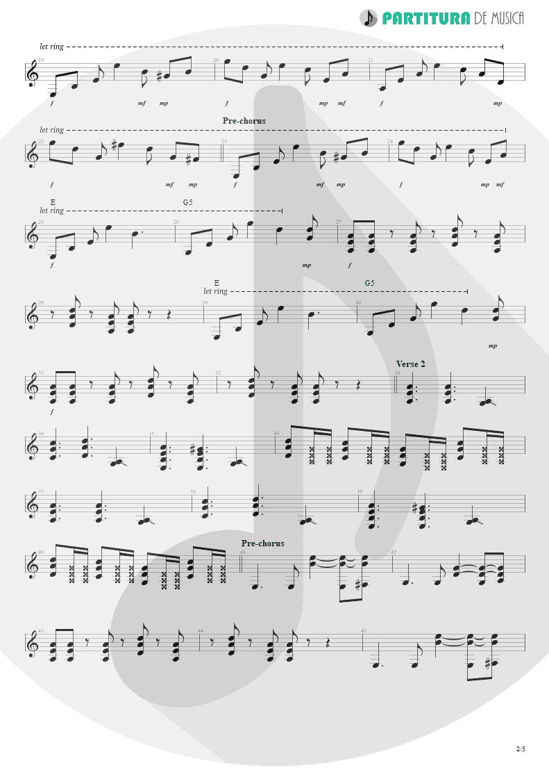 Partitura de musica de Guitarra Elétrica - Something For Nothing | Rush | 2112 1976 - pag 2
