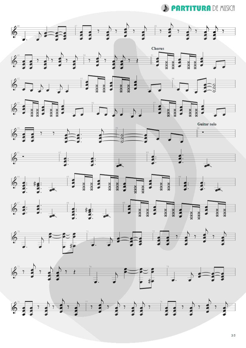Partitura de musica de Guitarra Elétrica - Something For Nothing | Rush | 2112 1976 - pag 3