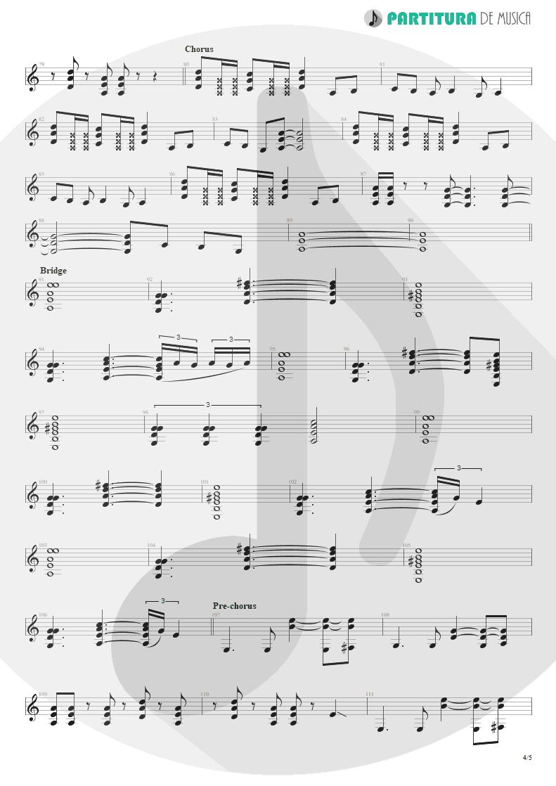 Partitura de musica de Guitarra Elétrica - Something For Nothing | Rush | 2112 1976 - pag 4