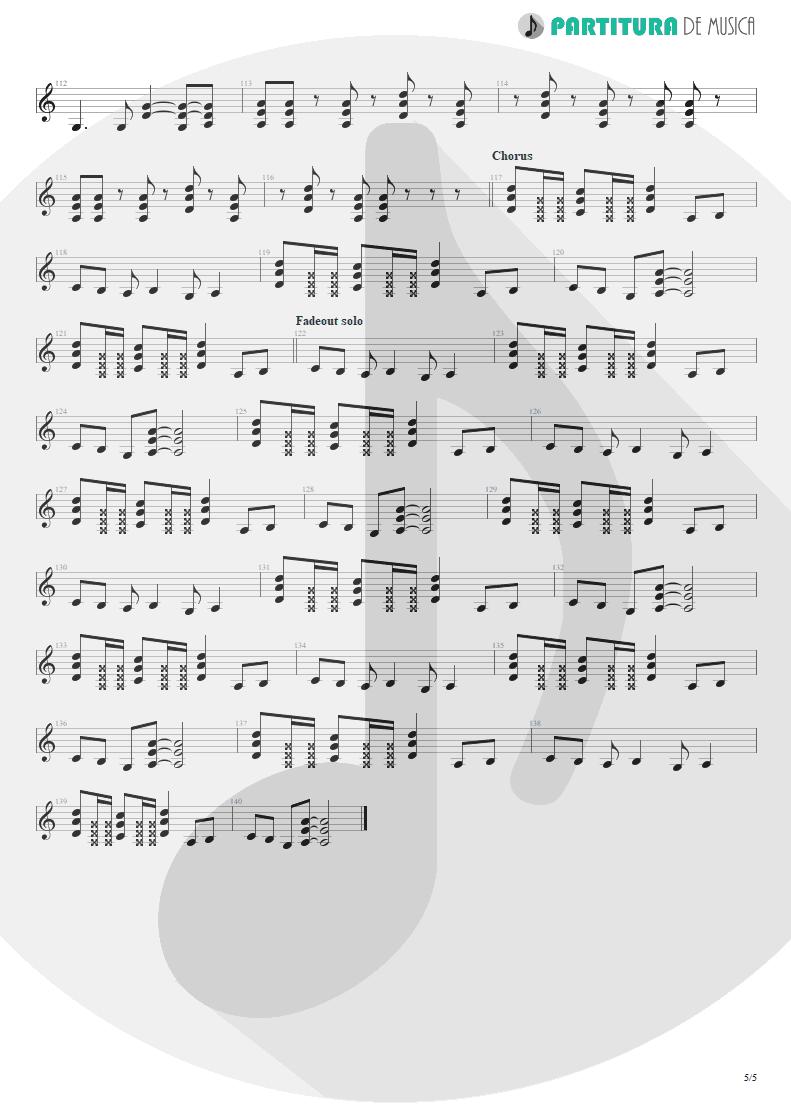 Partitura de musica de Guitarra Elétrica - Something For Nothing | Rush | 2112 1976 - pag 5