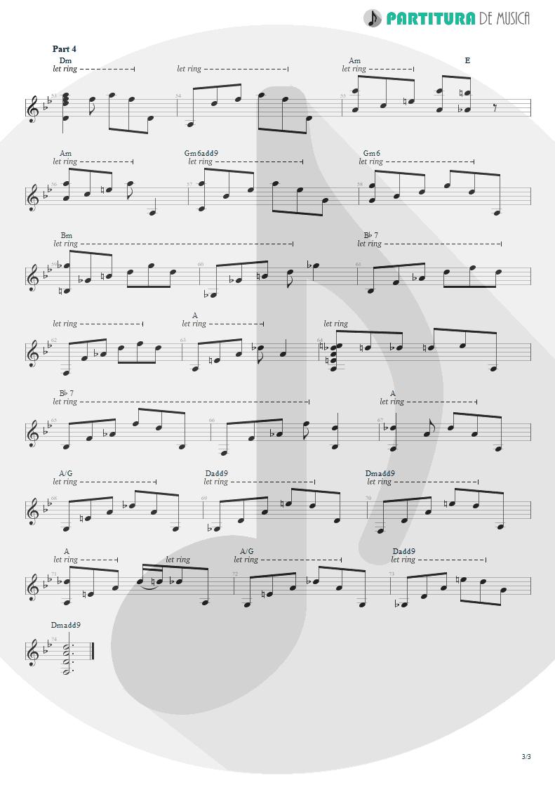 Partitura de musica de Violão - Broon's Bane | Rush | Exit...Stage Left 1981 - pag 3