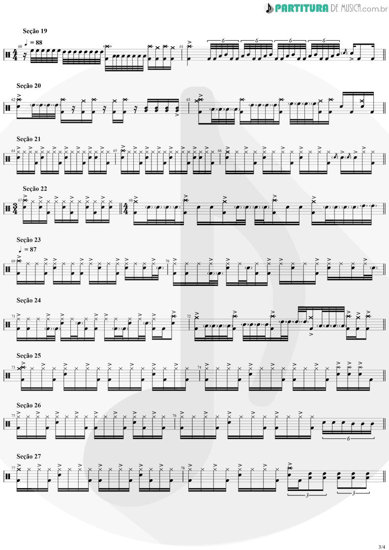 Partitura de musica de Bateria - Tom Sawyer | Rush | Moving Pictures 1981 - pag 3