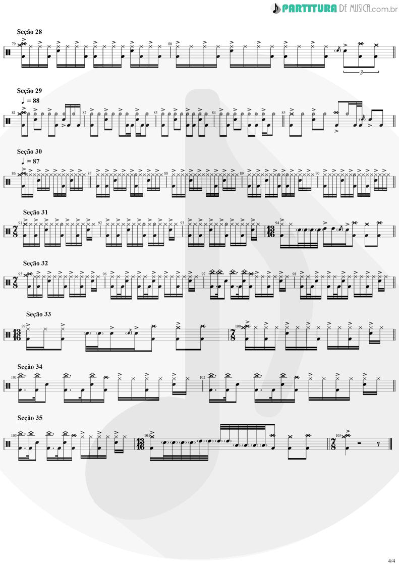 Partitura de musica de Bateria - Tom Sawyer | Rush | Moving Pictures 1981 - pag 4