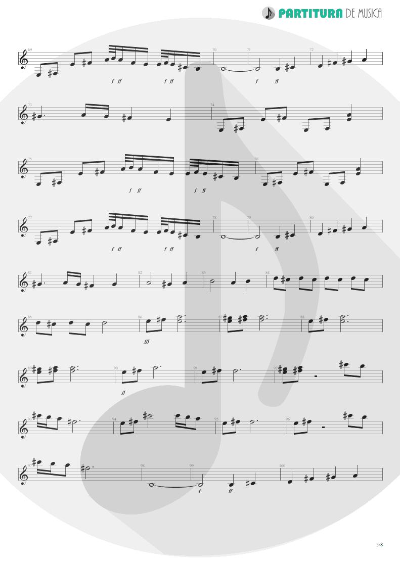 Partitura de musica de Guitarra Elétrica - Polar Nights | Scorpions | Virgin Killer 1976 - pag 5