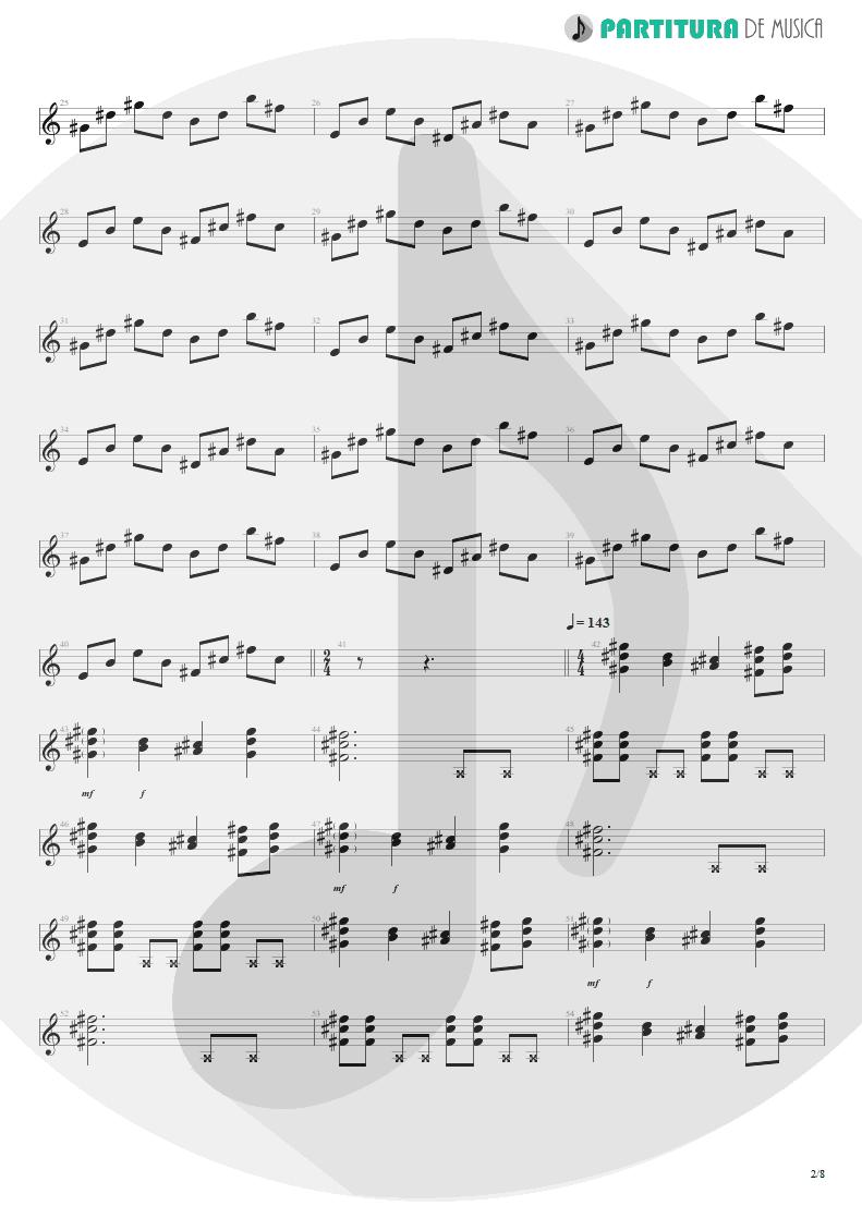 Partitura de musica de Violão - We'll Burn The Sky | Scorpions | Taken by Force 1978 - pag 2