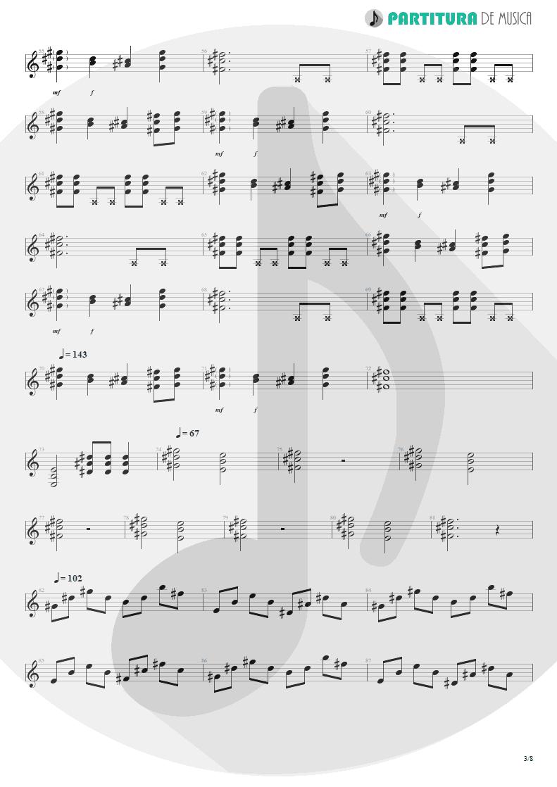 Partitura de musica de Violão - We'll Burn The Sky | Scorpions | Taken by Force 1978 - pag 3