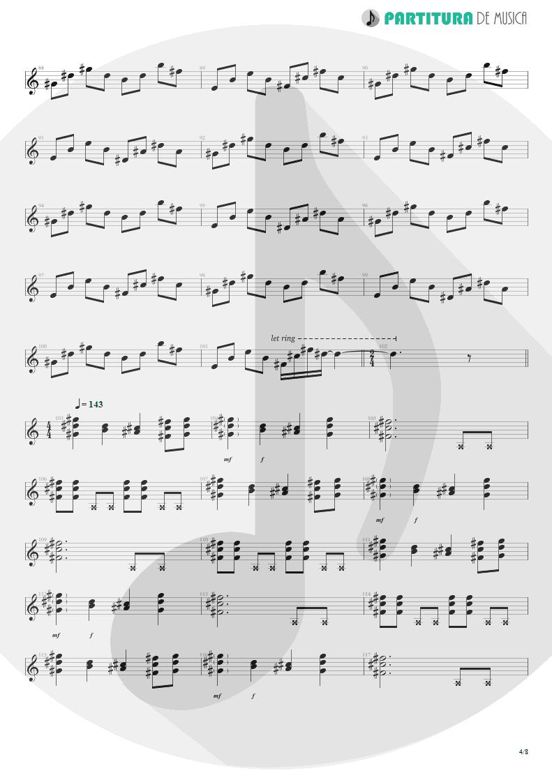 Partitura de musica de Violão - We'll Burn The Sky | Scorpions | Taken by Force 1978 - pag 4