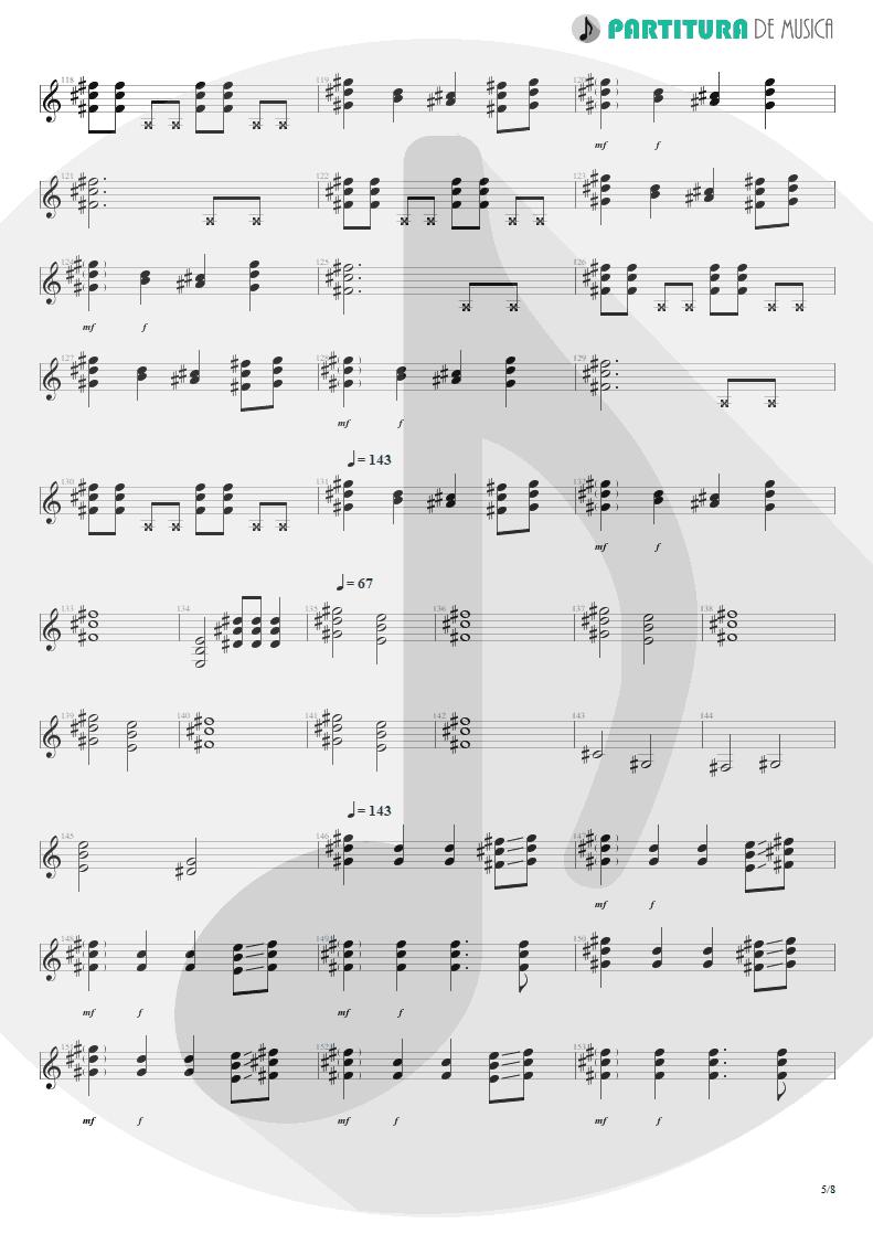 Partitura de musica de Violão - We'll Burn The Sky | Scorpions | Taken by Force 1978 - pag 5