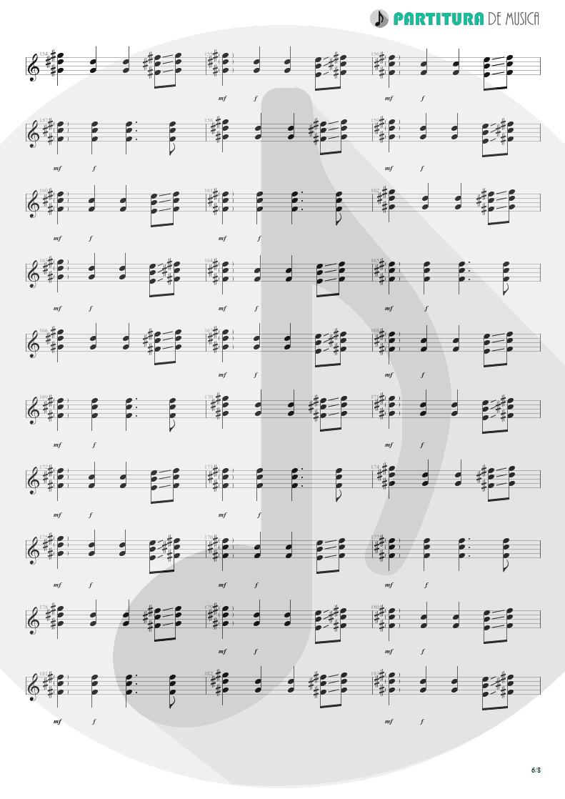 Partitura de musica de Violão - We'll Burn The Sky | Scorpions | Taken by Force 1978 - pag 6