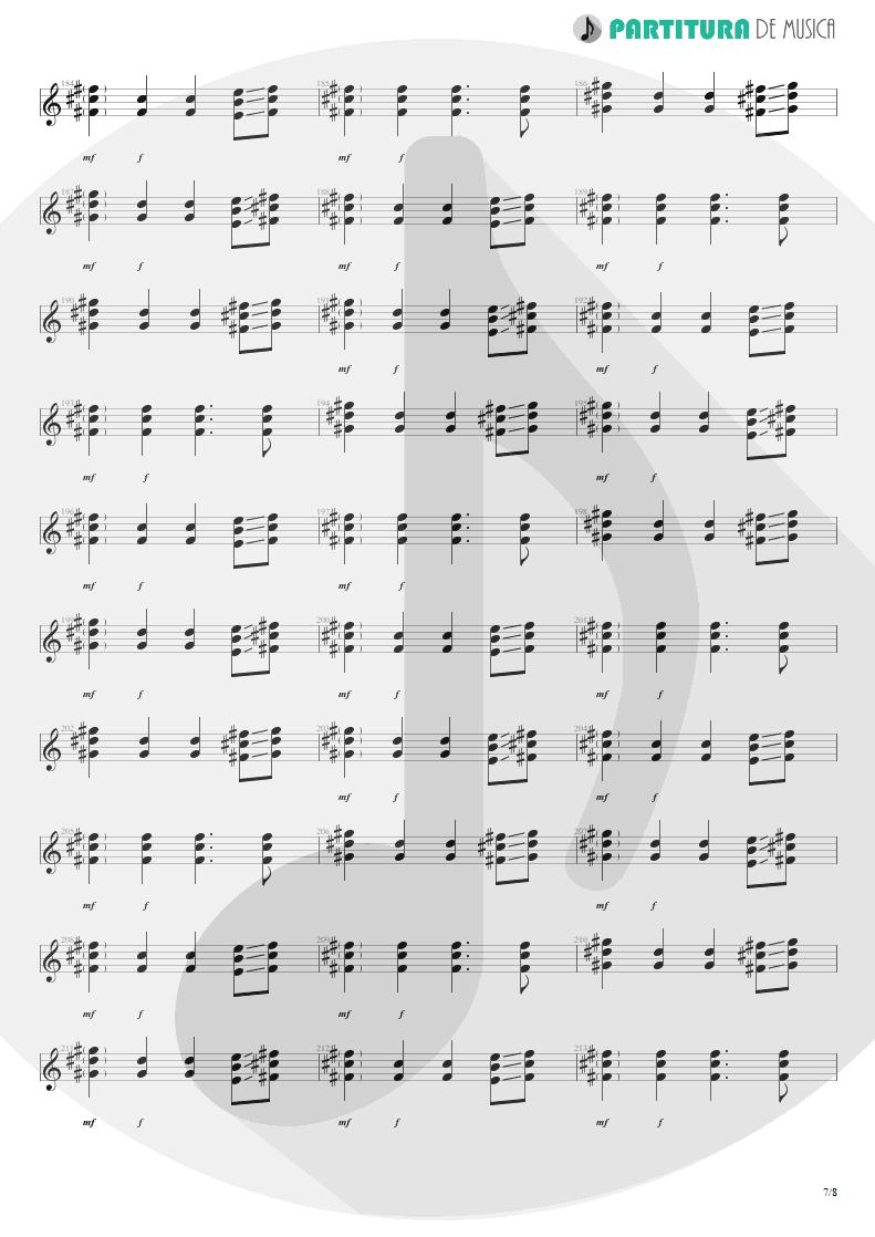 Partitura de musica de Violão - We'll Burn The Sky | Scorpions | Taken by Force 1978 - pag 7