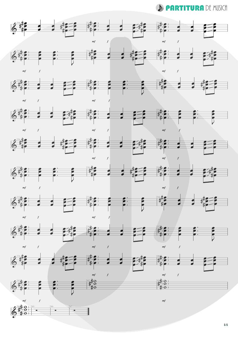 Partitura de musica de Violão - We'll Burn The Sky | Scorpions | Taken by Force 1978 - pag 8