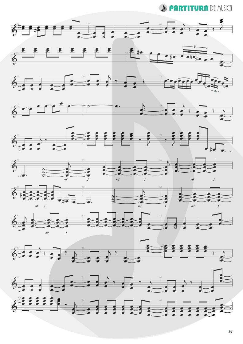 Partitura de musica de Guitarra Elétrica - Big City Nights | Scorpions | Love at First Sting 1984 - pag 3