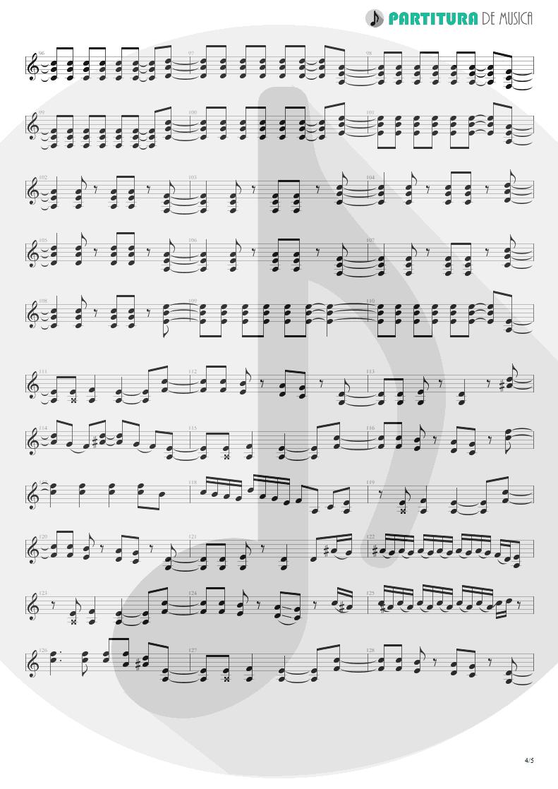 Partitura de musica de Guitarra Elétrica - Big City Nights | Scorpions | Love at First Sting 1984 - pag 4