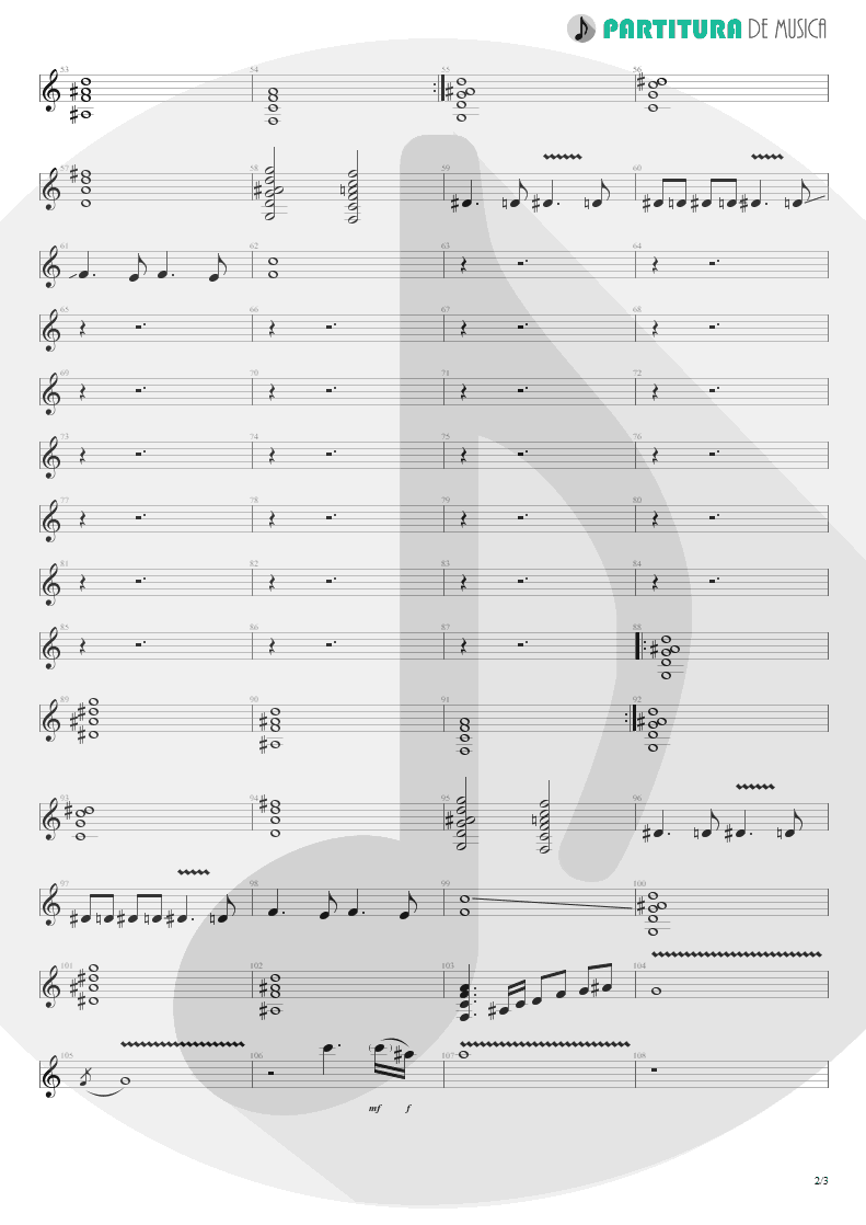 Partitura de musica de Guitarra Elétrica - Still Loving You | Scorpions | Love at First Sting 1984 - pag 2