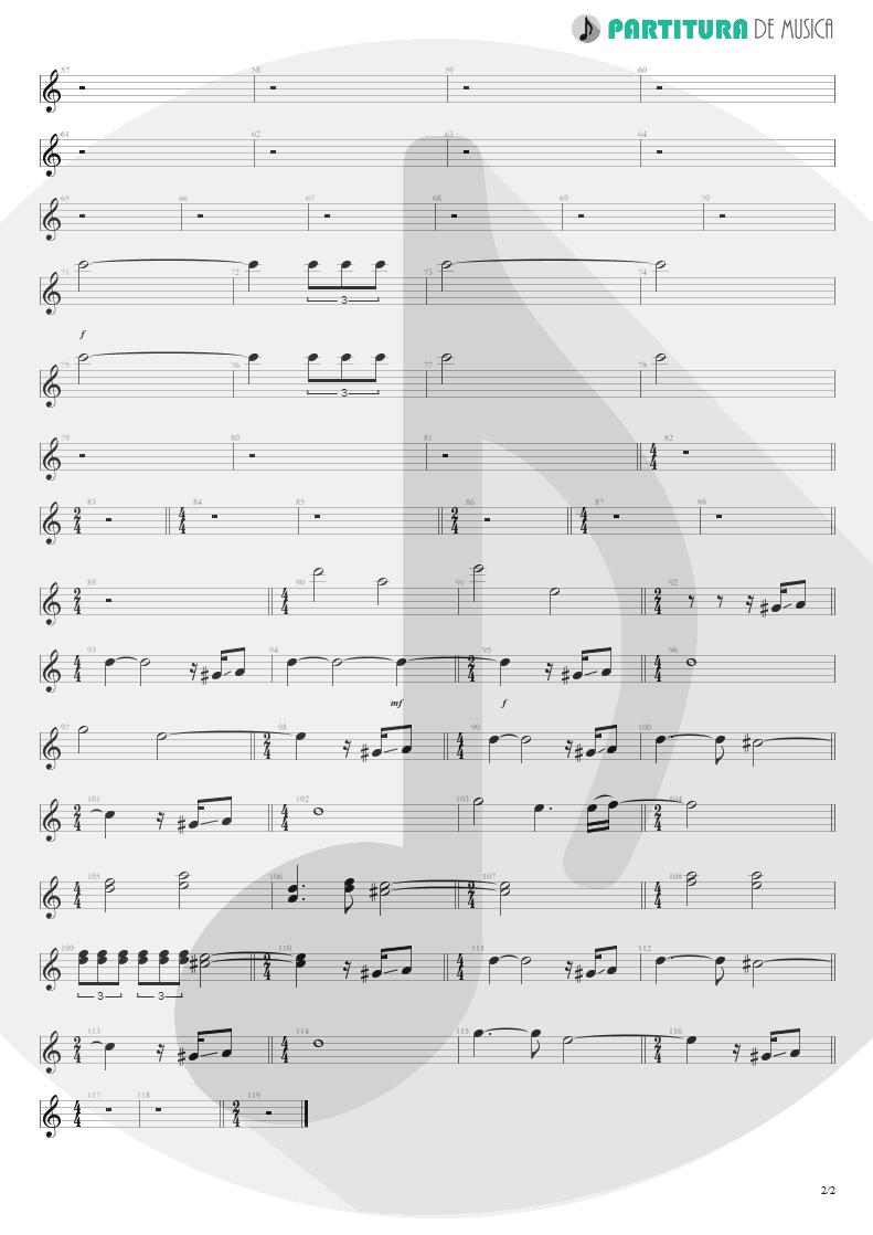 Partitura de musica de Guitarra Elétrica - Holiday | Scorpions | World Wide Live 1985 - pag 2