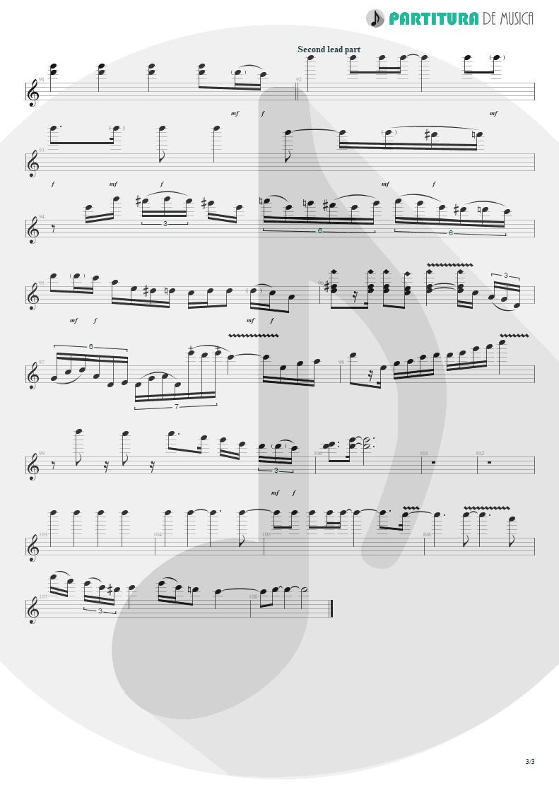 Partitura de musica de Guitarra Elétrica - Passion Rules The Game | Scorpions | Savage Amusement 1988 - pag 3