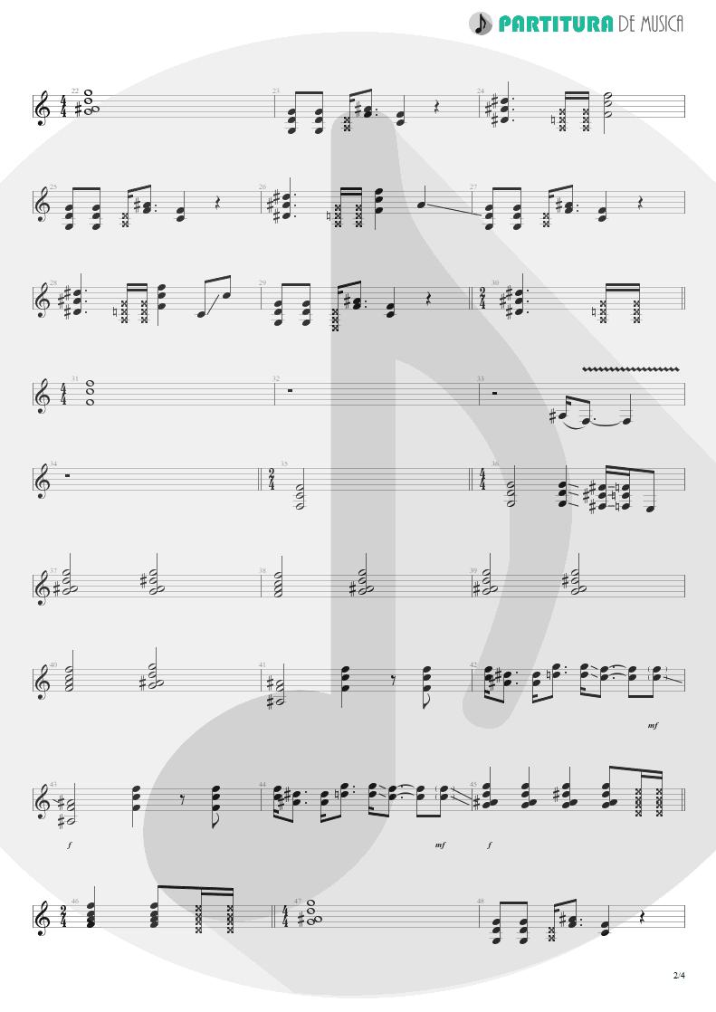 Partitura de musica de Guitarra Elétrica - Rhythm Of Love   Scorpions   Savage Amusement 1988 - pag 2