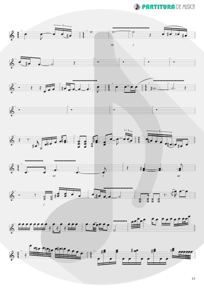 Partitura de musica de Guitarra Elétrica - Rhythm Of Love | Scorpions | Savage Amusement 1988 - pag 2