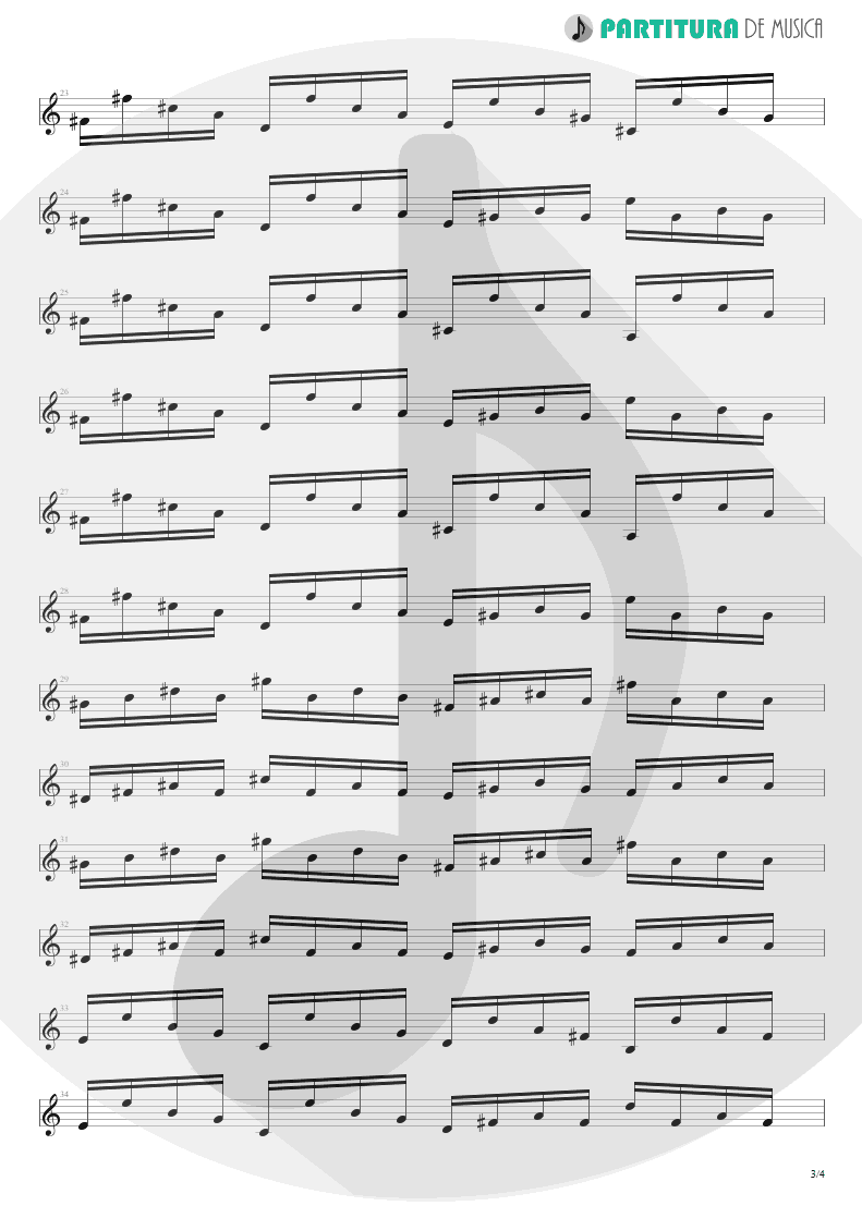 Partitura de musica de Violão - Send Me An Angel | Scorpions | Crazy World 1990 - pag 3