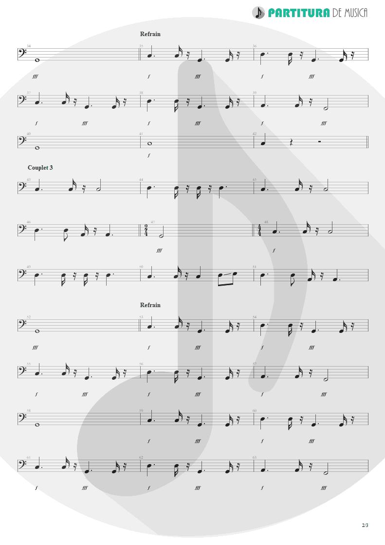 Partitura de musica de Baixo Elétrico - Wind Of Change   Scorpions   Crazy World 1990 - pag 2
