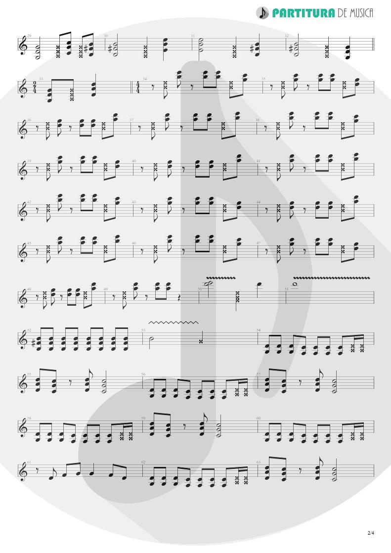 Partitura de musica de Guitarra Elétrica - Someone To Touch   Scorpions   Face the Heat 1993 - pag 2