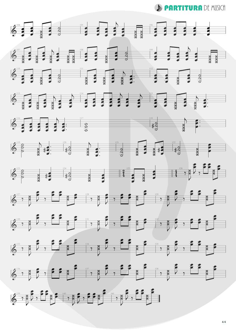 Partitura de musica de Guitarra Elétrica - Someone To Touch   Scorpions   Face the Heat 1993 - pag 4