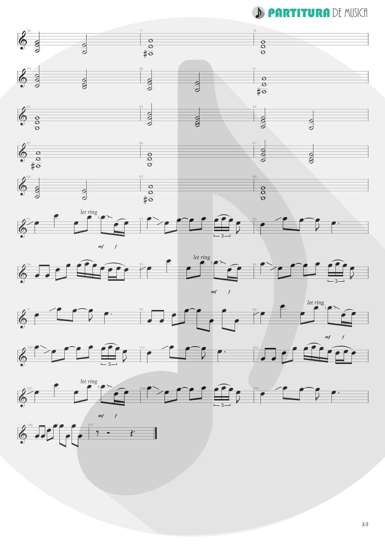 Partitura de musica de Guitarra Elétrica - Does Anyone Know   Scorpions   Pure Instinct 1996 - pag 3