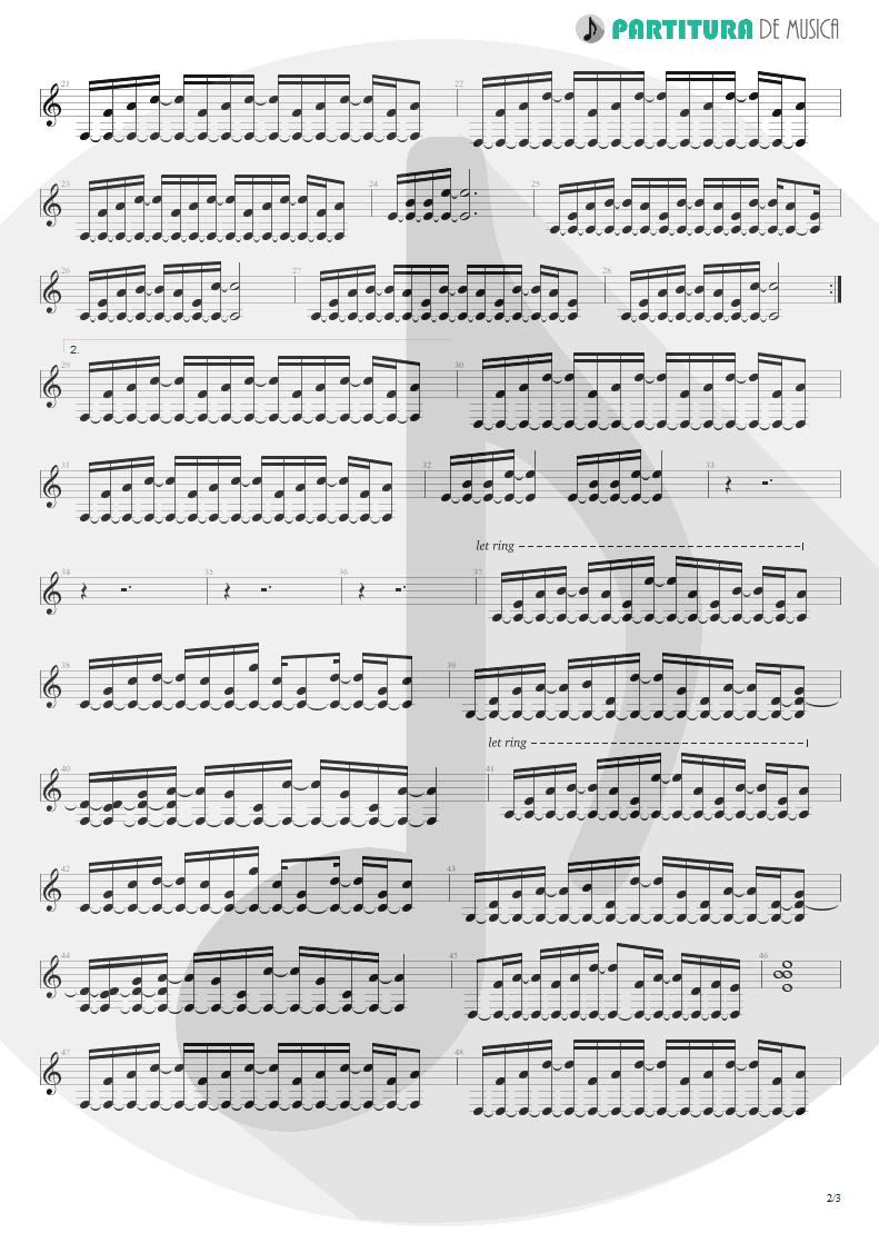 Partitura de musica de Violão - When You Came Into My Life | Scorpions | Pure Instinct 1996 - pag 2